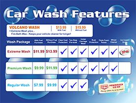 Brochure: Car Wash | Touchless, Drive-Thru, Soft Cloth, Wand Wash Locations | Peninsula Co-op